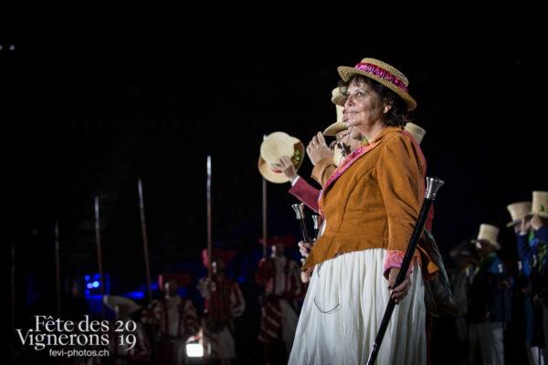 Filage en costume du 10 juillet 2019, fête des vignerons 2019 - Abbé & Conseil, Répétitions, Photographies de la Fête des Vignerons 2019.