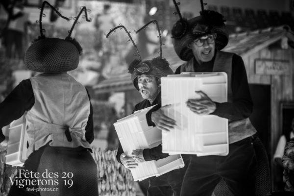 Filage en costume du 10 juillet 2019, fête des vignerons 2019 - Choristes-percussionnistes, Fourmis, percu-choriste, Percussionnistes, Répétitions, Sauterelles, Photographies de la Fête des Vignerons 2019.