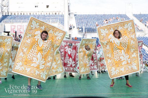 Vevey, le 2 juillet, répétition de la fête des vignerons dans l'arène. - Cartes, Répétitions, Photographies de la Fête des Vignerons 2019.