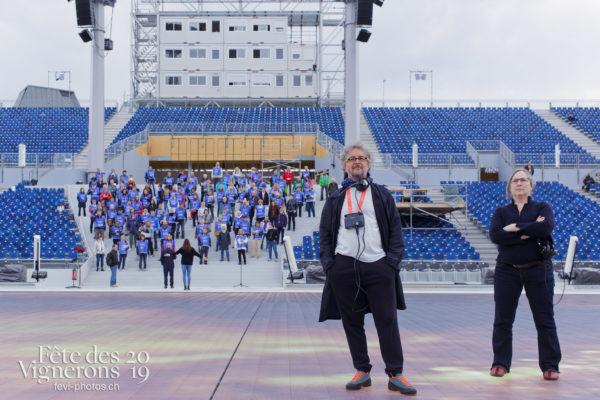 Répétition grand Choeur de la Fête - Chœurs de la Fête, Daniele Finzi Pasca, Direction artistique, Musiciens de la Fête, Répétitions, Photographies de la Fête des Vignerons 2019.