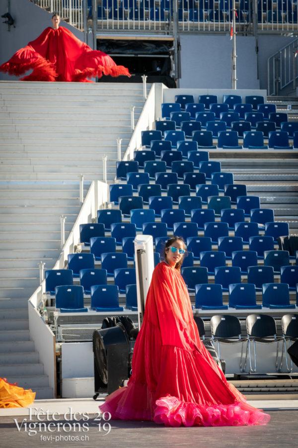 Répétition Loie Fuller - Arène, Flammes, Loïe Fuller, Répétitions, Photographies de la Fête des Vignerons 2019.