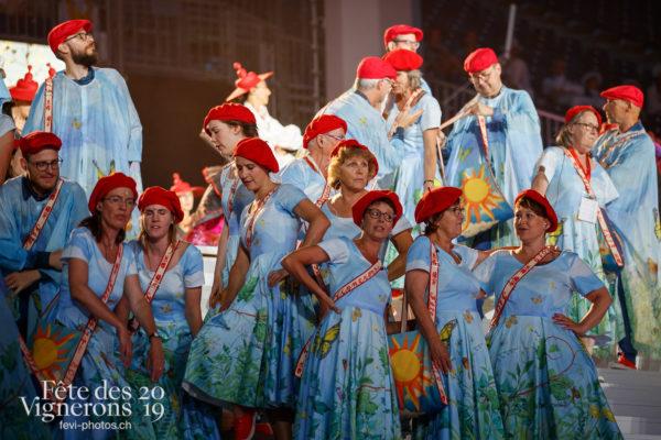 Filage en costumes - Chœurs de la Fête, Photographies de la Fête des Vignerons 2019.