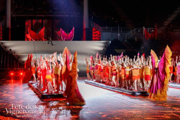 Filage en costumes - Filage, Flammes, J'arrache, Loïe Fuller, Répétitions, Sport Flammes, Photographies de la Fête des Vignerons 2019.