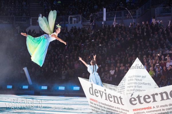 Répétition générale - Libellule, On a le droit de pêcher, Petite Julie, Répétition générale, Spectacle, Photographies de la Fête des Vignerons 2019.