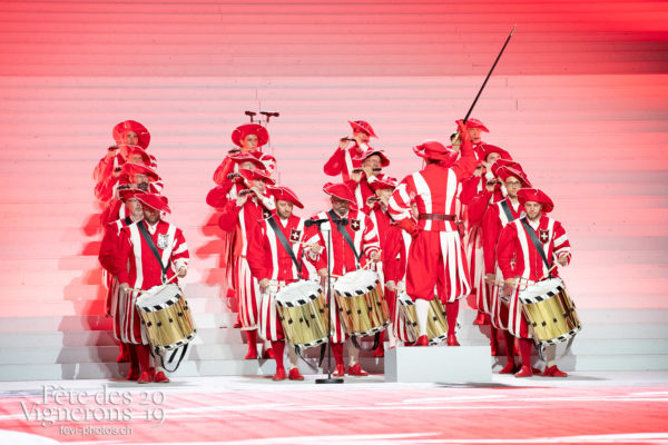 Répétition générale - Fifres & tambours de Bâle, Musiciens de la Fête, Répétition générale, Spectacle, Photographies de la Fête des Vignerons 2019.