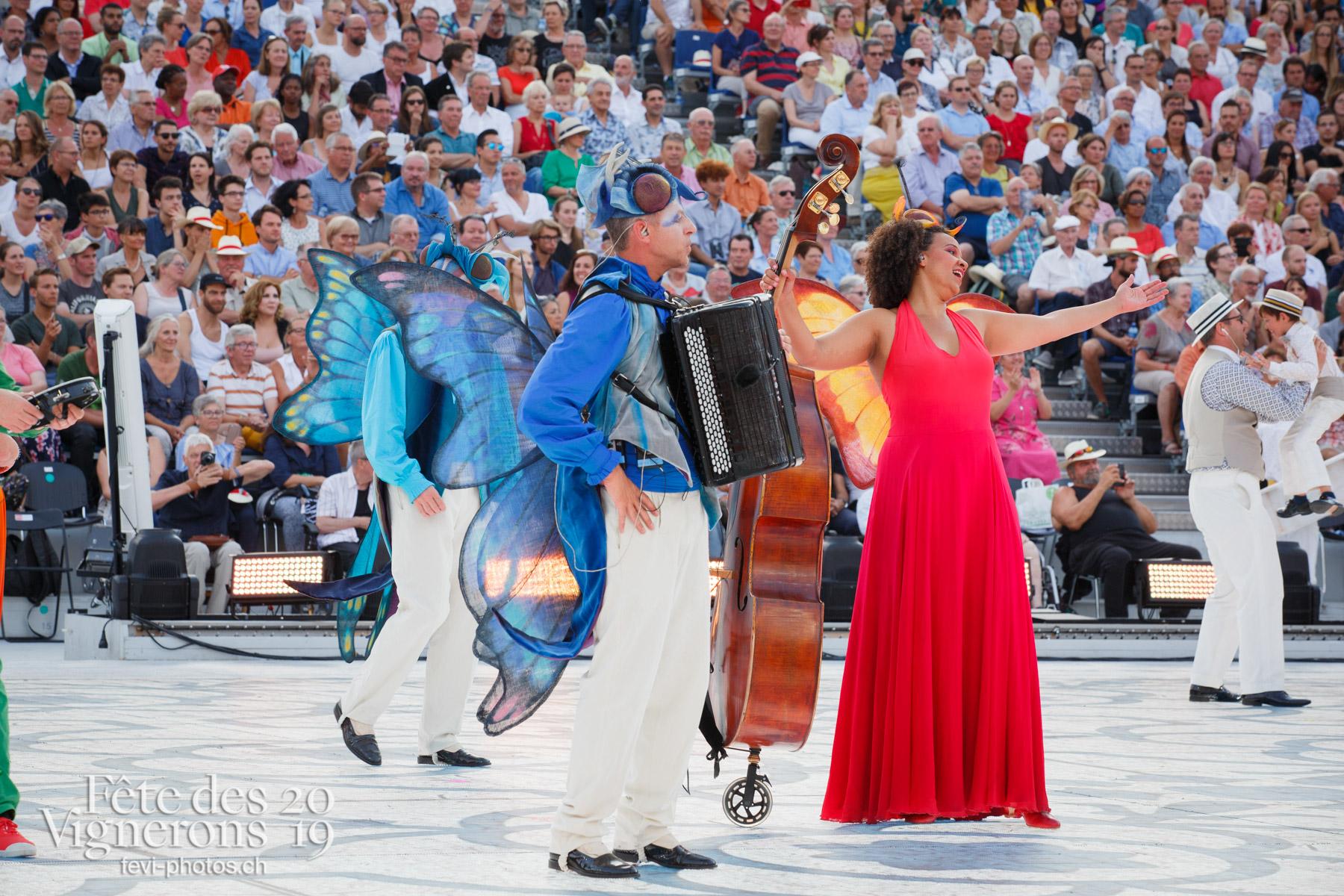 Spectacle jour - Jour, Musiciens de la Fête, Musiciens solistes, Météo types, Spectacle, noce. Photographes de la Fête des Vignerons 2019