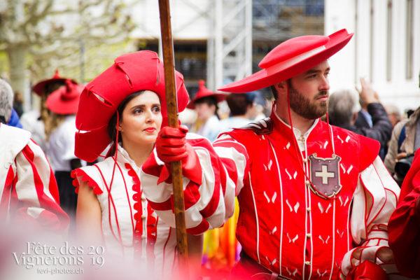 Proclamation Fête des Vigenrons - Cent pour Cent, Cent suisses, Cortège, Proclamation, Photographies de la Fête des Vignerons 2019.