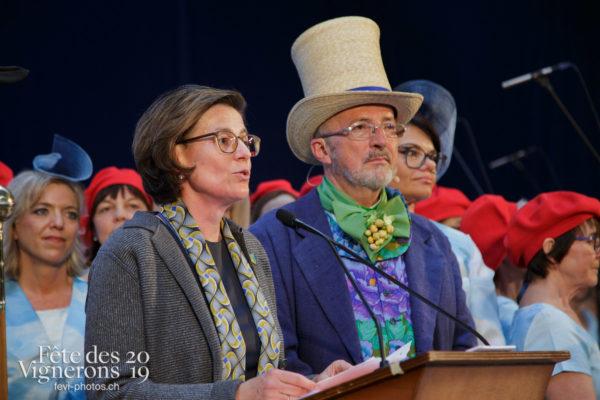 Proclamation Fête des Vigenrons - Abbé & Conseil, Officiels, Proclamation, Photographies de la Fête des Vignerons 2019.