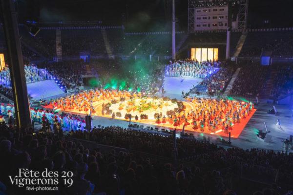 Vue sur l'arène lors d'une représentation générale ! - Arène, Bourgeons, Répétition générale, Photographies de la Fête des Vignerons 2019.