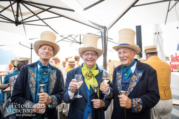 Vevey, le 18 juillet 2019, banquet - Conseillers honoraires, Couronnement, Photographies de la Fête des Vignerons 2019.