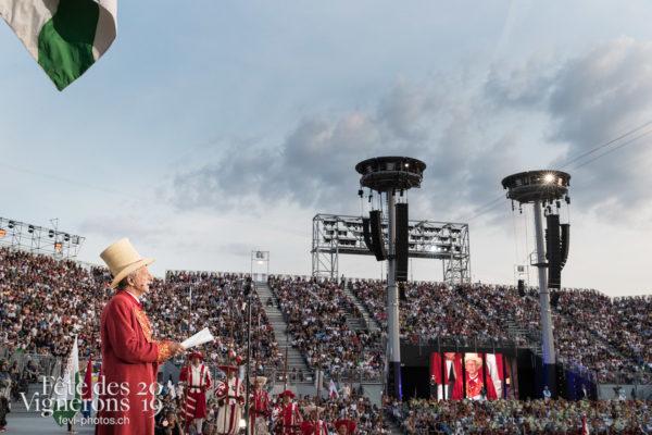 Couronnement du le 18 juillet 2019, fête des vignerons 2019 - Abbé Président, Couronnement, François Margot, Photographies de la Fête des Vignerons 2019.