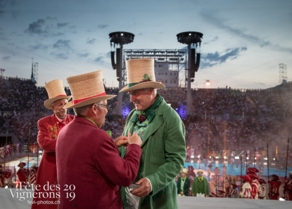 Couronnement du le 18 juillet 2019, fête des vignerons 2019 - Abbé & Conseil, Conseil de la Conférie des Vignerons, Couronnement, Vignerons primés, Photographies de la Fête des Vignerons 2019.