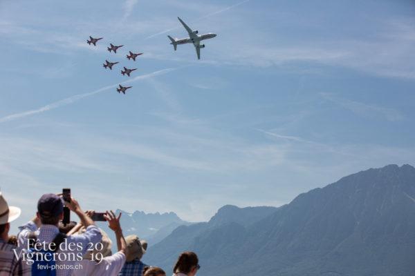 1 er aout - Avion Swiss, Patrouille suisse, Photographies de la Fête des Vignerons 2019.