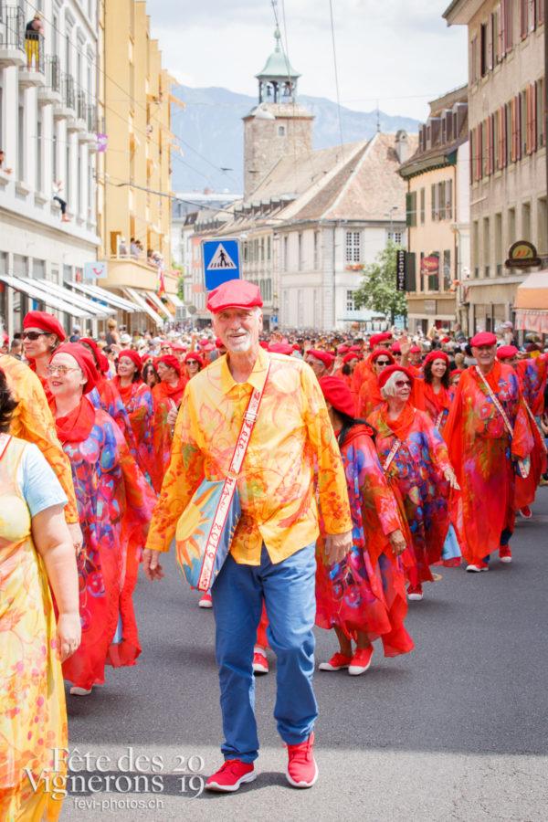 Cortège de la Confrérie - Chœurs de la Fête, Cortège, Cortèges Confrérie, Musiciens de la Fête, Photographies de la Fête des Vignerons 2019.