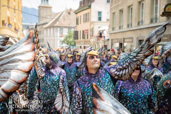 Cortège de la Confrérie - Cortège, Cortèges Confrérie, Etourneaux, Photographies de la Fête des Vignerons 2019.