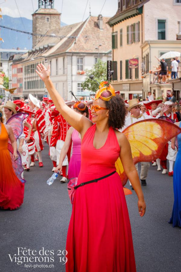 Cortège de la Confrérie - Cortège, Cortèges Confrérie, Musiciens de la Fête, Musiciens solistes, Photographies de la Fête des Vignerons 2019.