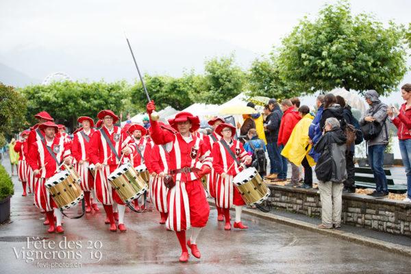 Cortège journée cantonale - Bâle Glaris Jura, Cortège, Fifres & tambours de Bâle, Journées cantonales, Photographies de la Fête des Vignerons 2019.