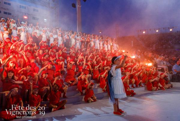 Spectacle - Hymne à la terre, Musiciens de la Fête, Solistes voix d'enfants, Spectacle, Voix d'enfants, Photographies de la Fête des Vignerons 2019.
