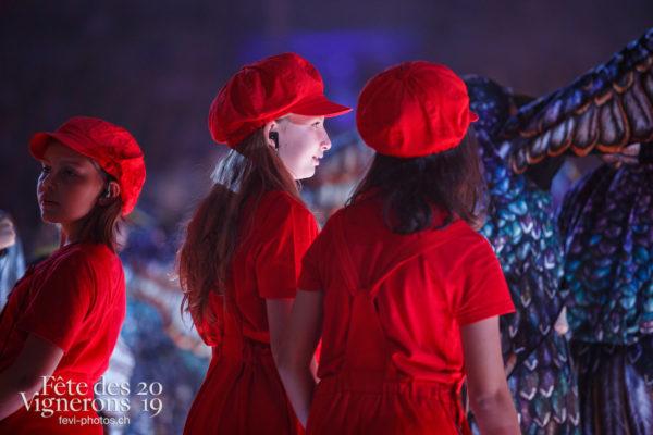 Spectacle - Enfants protecteurs, Etourneaux, Protection de la vigne, Spectacle, Photographies de la Fête des Vignerons 2019.