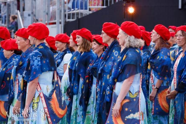 Spectacle - Chœurs de la Fête, Larmes, Musiciens de la Fête, Spectacle, Photographies de la Fête des Vignerons 2019.