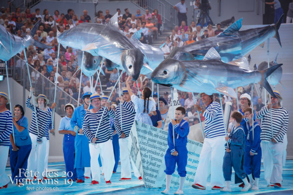 Spectacle - Marins, On a le droit de pêcher, Petite Julie, Spectacle, Photographies de la Fête des Vignerons 2019.