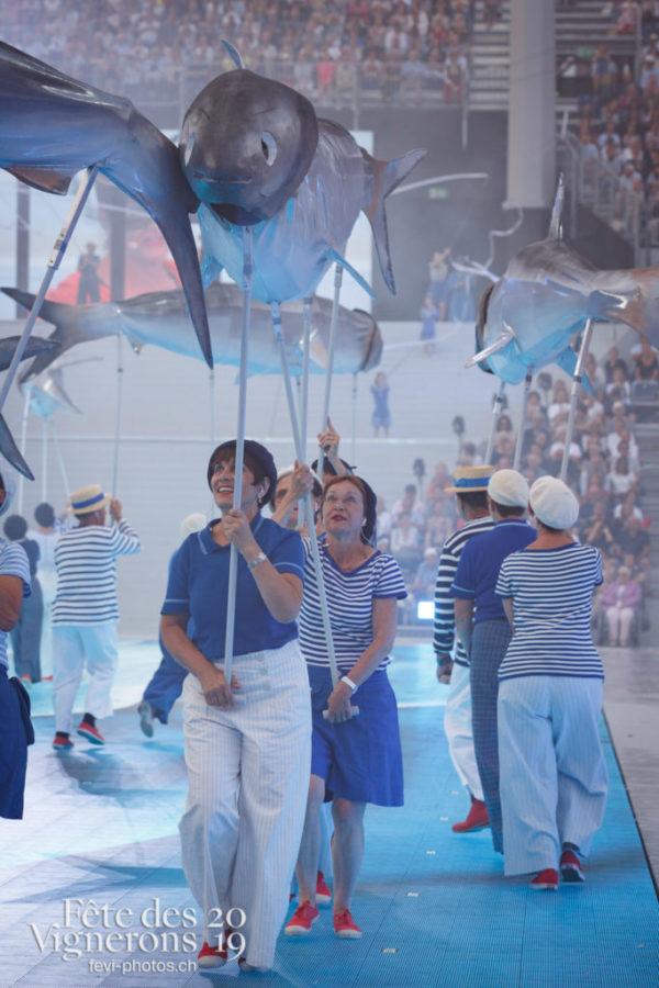 Spectacle - Marins, On a le droit de pêcher, Spectacle, Photographies de la Fête des Vignerons 2019.