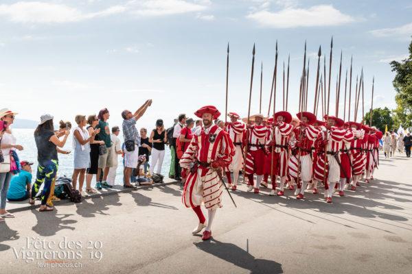Cortège de la confrérie du 31 juillet 2019, Vevey, fête des vignerons - Cent suisses, Cortège, Cortèges Confrérie, Photographies de la Fête des Vignerons 2019.
