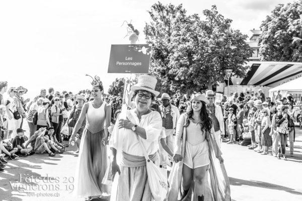 Cortège de la confrérie du 31 juillet 2019, Vevey, fête des vignerons - Cortège, Cortèges Confrérie, Libellule, Marmousets, Messagère, Photographies de la Fête des Vignerons 2019.