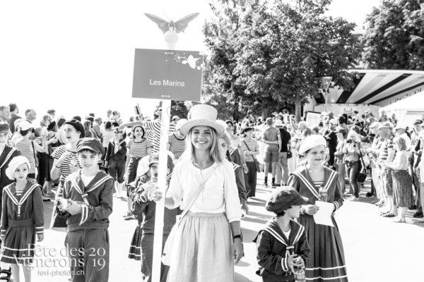 Cortège de la confrérie du 31 juillet 2019, Vevey, fête des vignerons - Cortège, Cortèges Confrérie, Marins, Marmousets, Photographies de la Fête des Vignerons 2019.