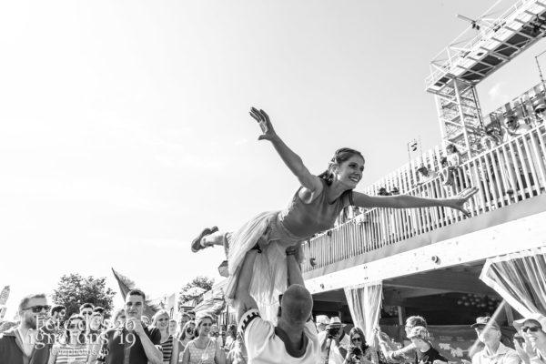 Cortège de la confrérie du 31 juillet 2019, Vevey, fête des vignerons - Cortège, Cortèges Confrérie, Flammes, J'arrache, Sport Flammes, Photographies de la Fête des Vignerons 2019.