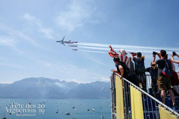 Patrouille suisse, avion Swiss - 1er-aout, Patrouille suisse, Photographies de la Fête des Vignerons 2019.