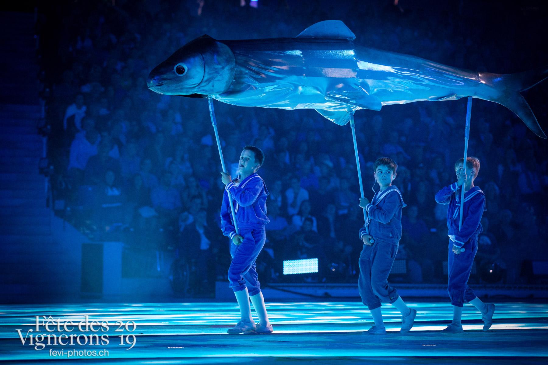 spectacle du 02 août 2019, Vevey, fête des vignerons - marins poissons, spectacle. Photographes de la Fête des Vignerons 2019