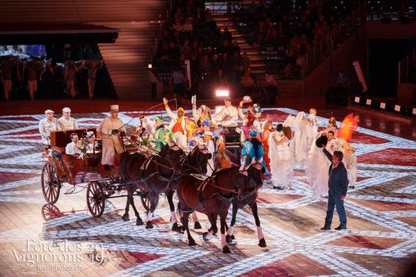 Spectacle - Attelage Noce, Grand-père, Michel Voïta, Musiciens de la Fête, Musiciens solistes, Noce, Spectacle, Photographies de la Fête des Vignerons 2019.
