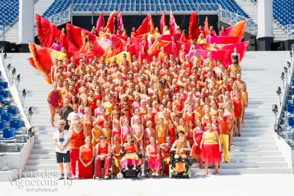 Photo de groupe des Flammes - Flammes, groupe, Photographies de la Fête des Vignerons 2019.