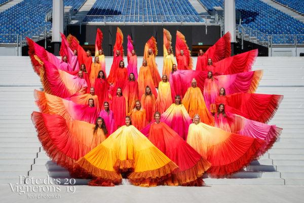 Photo de groupe des Loïe Fuller - groupe, Loïe Fuller, Photographies de la Fête des Vignerons 2019.