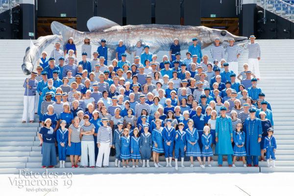 Photo de groupe des Marins - groupe, Marins, Photographies de la Fête des Vignerons 2019.