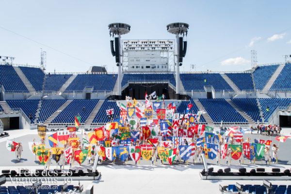 Photo de groupe des porteurs drapeaux - groupe, Porteurs drapeaux, Photographies de la Fête des Vignerons 2019.