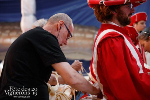 Coulisses - Cent pour Cent, Coulisses, Faux chevaux, Technique, Photographies de la Fête des Vignerons 2019.