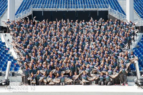 Photo de groupe des Etourneaux - Etourneaux, groupe, Photographies de la Fête des Vignerons 2019.