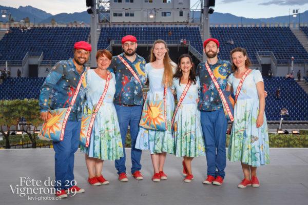 Photo de groupe des solistes vocaux - Chœurs de la Fête, groupe, Musiciens de la Fête, Solistes vocaux, Studio, Photographies de la Fête des Vignerons 2019.