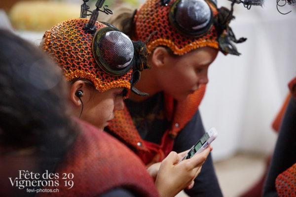Coulisses - Choristes-percussionnistes, Coulisses, Fourmis, Photographies de la Fête des Vignerons 2019.