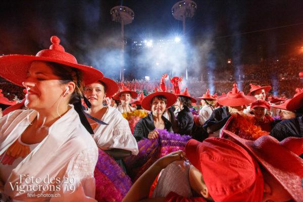 Spectacle, dernier final de nuit - Effeuilleuses, Final, Spectacle, Photographies de la Fête des Vignerons 2019.