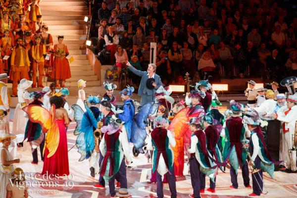 Spectacle - Big Band, Grand-père, Michel Voïta, Musiciens de la Fête, Musiciens solistes, Noce, Spectacle, Trois docteurs, Photographies de la Fête des Vignerons 2019.