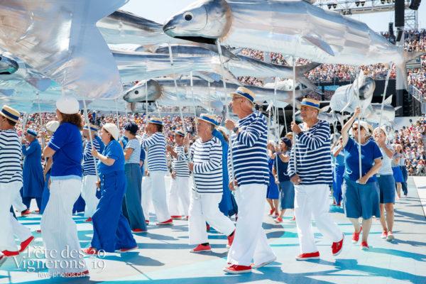 Spectacle de jour, dernière représentation - Marins, On a le droit de pêcher, Spectacle, Spectacle jour, Photographies de la Fête des Vignerons 2019.
