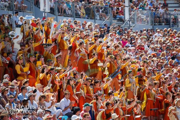 Spectacle de jour, dernière représentation - Harmonie de la Fête, Musiciens de la Fête, Musiciens harmonie, Noce, Spectacle, Spectacle jour, Photographies de la Fête des Vignerons 2019.