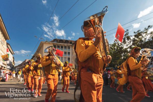 Cortège de la Confrérie - Cortège, Cortèges Confrérie, Harmonie de la Fête, Musiciens de la Fête, Ville en Fête, Photographies de la Fête des Vignerons 2019.
