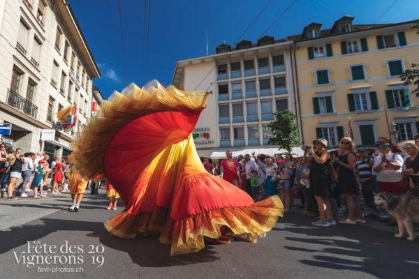 Cortège de la Confrérie - Cortège, Cortèges Confrérie, Flammes, Loïe Fuller, Ville en Fête, Photographies de la Fête des Vignerons 2019.