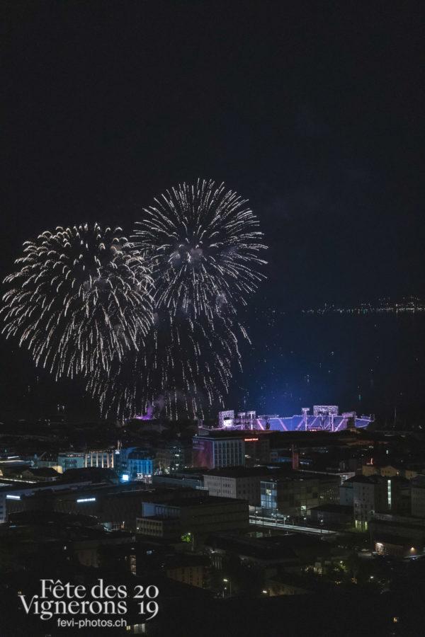 Feux d'artifice de la Fête nationale - Arène, Feux d'artifice, Météo types, Nuit, Photographies de la Fête des Vignerons 2019.