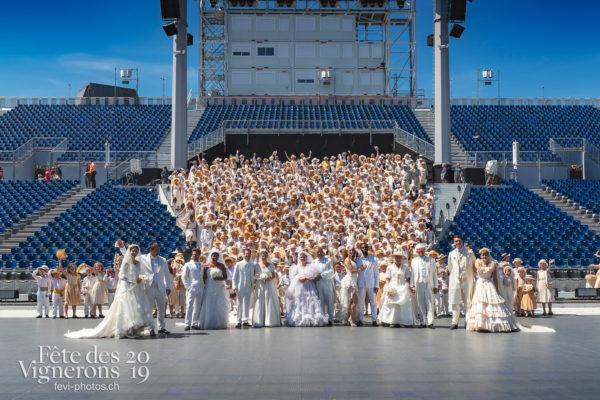 Noce groupe - Attelage Noce, Mariés de la Noce, Noce, Photographies de la Fête des Vignerons 2019.