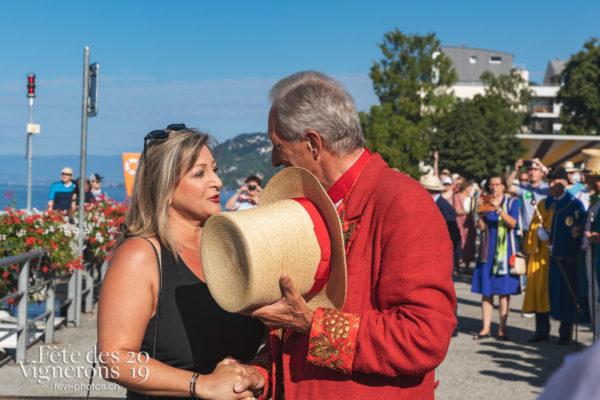 Accueil des autorités cantonales de Vaud - Abbé Président, Autorités, Journées cantonales, Vaud, Photographies de la Fête des Vignerons 2019.